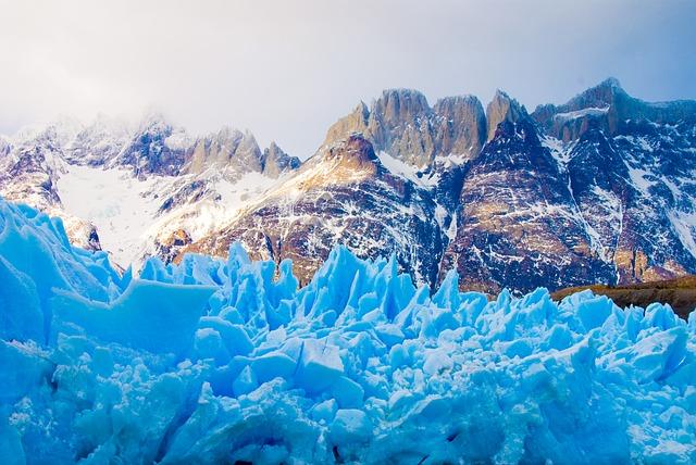 glacier Torres del Paine au Chili